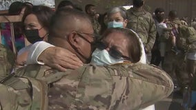 Members of Arizona National Guard reunited with family after overseas deployment