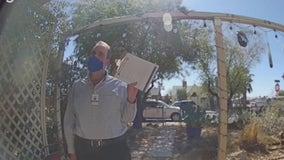 Volunteers door knock in Phoenix, working to register a neighborhood for COVID-19 vaccines