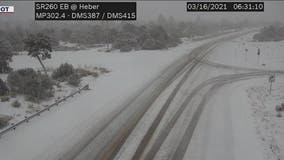 Cold front continues to move into Arizona's high country; ADOT warns drivers to plan ahead