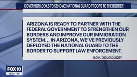 Gov. Ducey looks to send Arizona National Guard troops to border