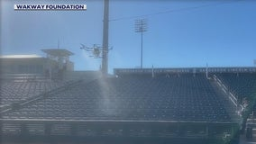 Drone helps keep spring training fans safe from COVID-19 in Surprise