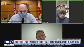 Plastic surgeon appears in California traffic court video while operating