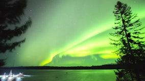 Northern Lights dance across the skies above Alaska's Glacier Bay National Park