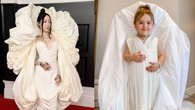 4-year-old twin girls recreate the best looks from the 2021 Grammy Awards