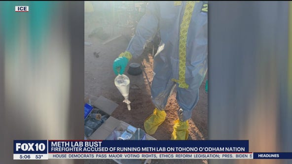 Arizona firefighter accused of operating meth lab at home