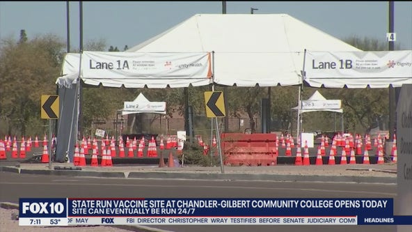 State-run vaccination site at Chandler-Gilbert Community College opens March 3