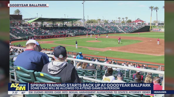 Playball! Spring training starts back up at Goodyear Ballpark