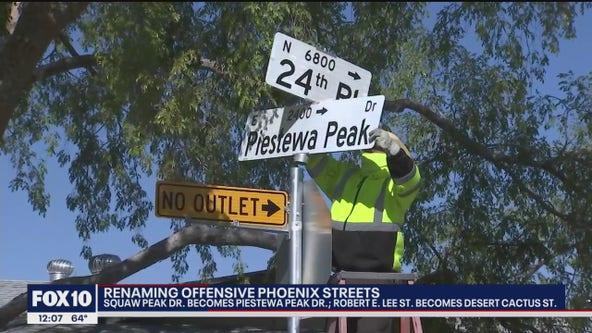 Phoenix to dismantle Squaw Peak, Robert E. Lee street signs