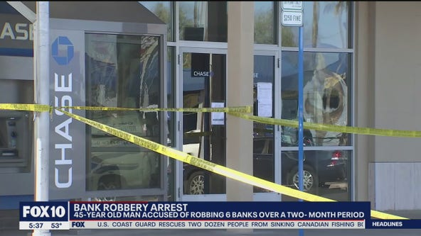 Man suspected of robbing 6 banks in Arizona
