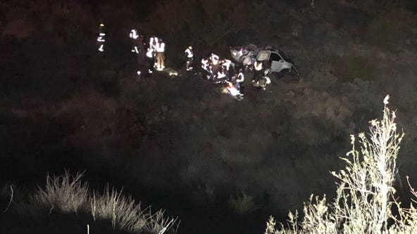 Person rescued from a ravine off I-17, Fire crews say