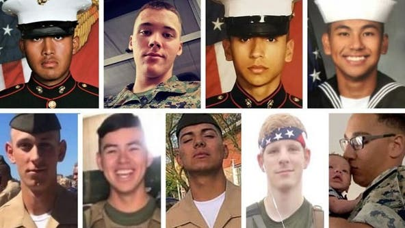 Heartbroken parents to sue a year after 9 troops died at sea off SoCal coast