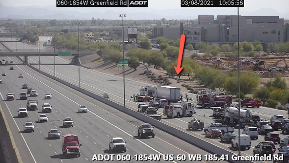 Eastbound US 60 reopens near Higley following 2-car crash