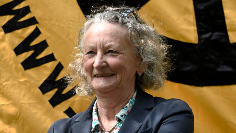 Baroness Jenny Jones seen during the commemoration.
