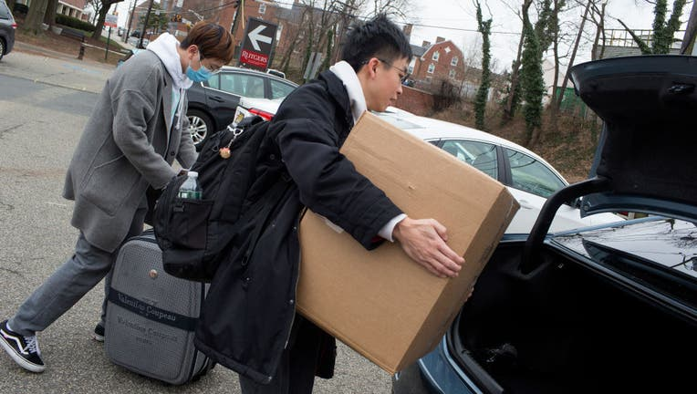 Rutgers University students move out after University shut down because of coronavirus