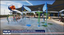 Splash Pads at Peoria city parks reopen after being shut down for nearly 2 years