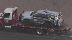 DPS: Car struck patrol vehicle while troopers were clearing another crash scene on US 60