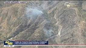 Seven Fire burns over 20 acres in the Tonto National Forest