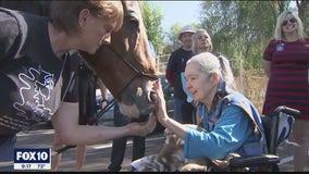 Wildhorse Ranch Rescue horse helps hospice patient complete bucket list