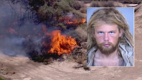 Arrest made in Goodyear brush fire case; man accused of 'reckless burning'