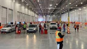 Arizona's 1st indoor drive-thru COVID-19 vaccination site opens in Mesa