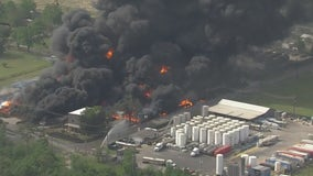 Large industrial fire extinguished at Channelview facility