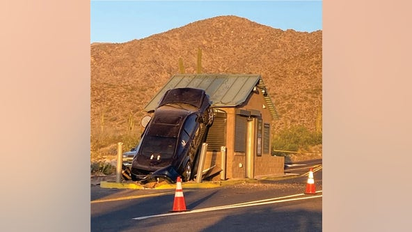 'A hiccup': Car crashes into White Tank Mountain Regional Park entry station