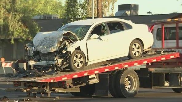 Impairment suspected in head-on crash that injured 5 people in Phoenix