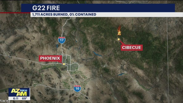 G22 fire burns over 1,700 acres