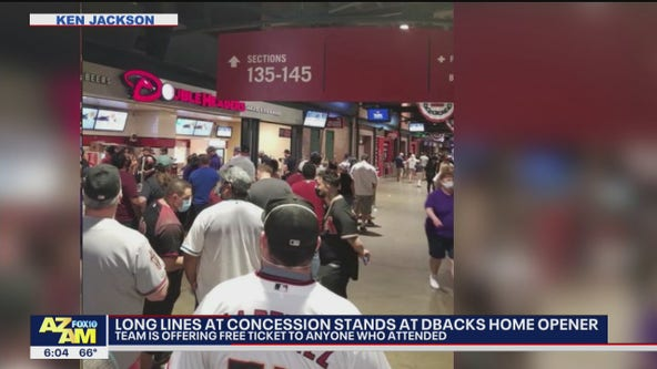 Long lines at concession stands at Dbacks home opener