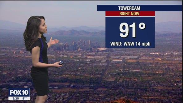 5 p.m. Weather Forecast -  4/10/21