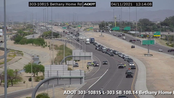 Multiple lanes closed on Loop 303 due to a fatal crash