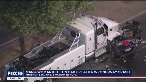 Man, woman killed in wrong-way crash near 83rd Avenue and McDowell