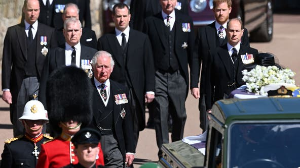 Prince Philip funeral reunites William and Harry, who stood apart during procession