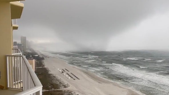WATCH: Possible tornado spins ashore in Panama City Beach