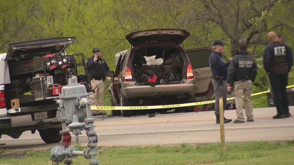 Manhunt underway for suspects who shot Burleson officer, fatally carjacked woman