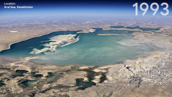 Google Earth adds time-lapse video to depict climate change