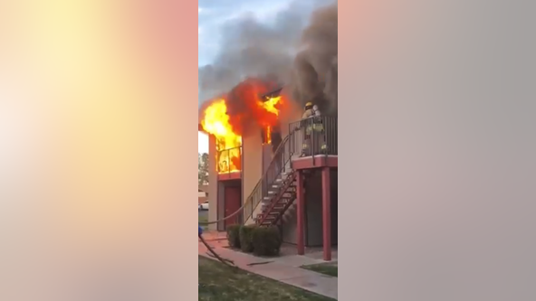 Person found dead in apartment fire with 10-foot flames in Phoenix