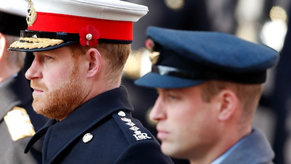 Princes William, Harry won't walk side-by-side at Prince Philip's funeral Saturday