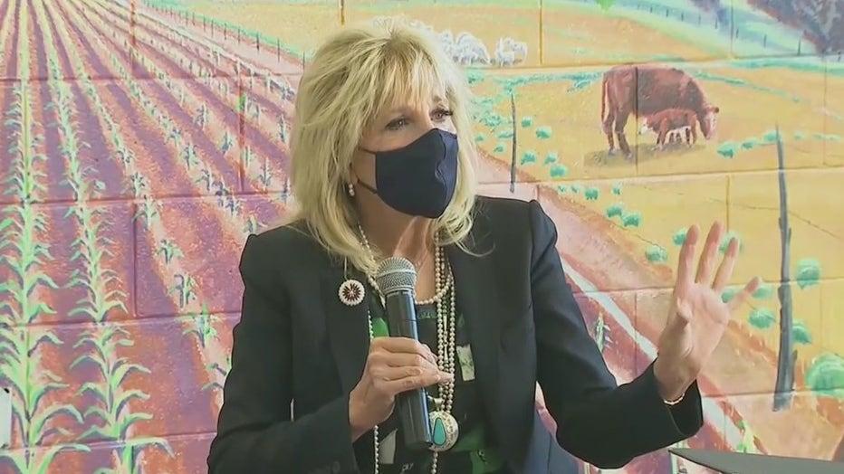 Jill Biden speaks at the Navajo Nation