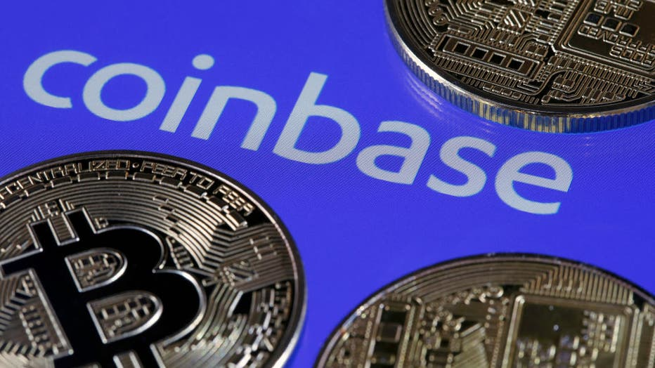 159b88dc-Coinbase Cryptocurrency Exchange Website And Novelty Coins : Illustration