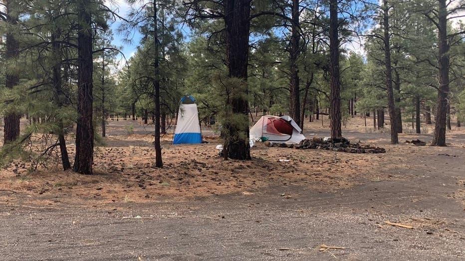 flagstaff campsite woman dead