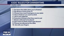Survey: Top 10 rules for dinnertime, according to kids