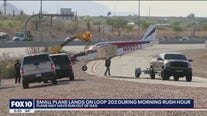 Small plane makes emergency landing on Loop 202