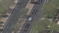 Procession and viewing held for fallen Chandler police officer