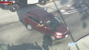 Suspects in custody after wild pursuit through South LA