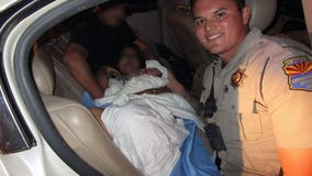 Arizona DPS troopers help deliver baby in the back of a car