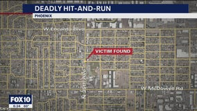 Phoenix police search for driver in fatal hit-and-run near 35th Avenue and McDowell