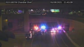 Westbound I-10 reopens at Loop 202 in Chandler following fiery crash between milk tanker, semi