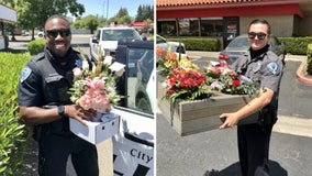 Police deliver Mother's Day flowers after arresting delivery driver for DUI