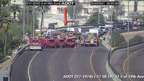 Southbound I-17 reopens in Phoenix following rollover crash